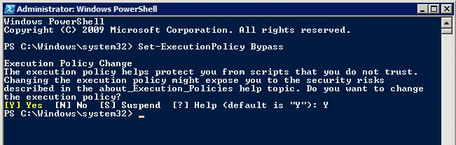 PowerShell: Set-ExecutionPolicy Bypass