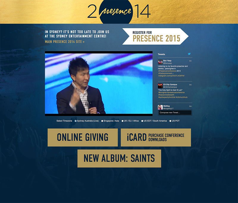 Presence Conference 2014: Live Stream Page