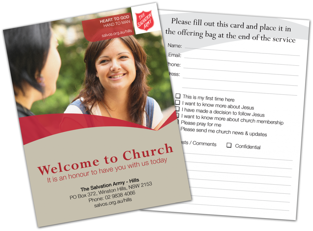 Church Response Card Design
