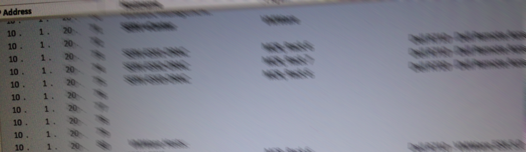 IP Address Worksheet (Blurry)