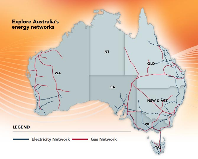 Map of the National Electricity Market