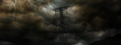 Electricity Transmission in a Storm