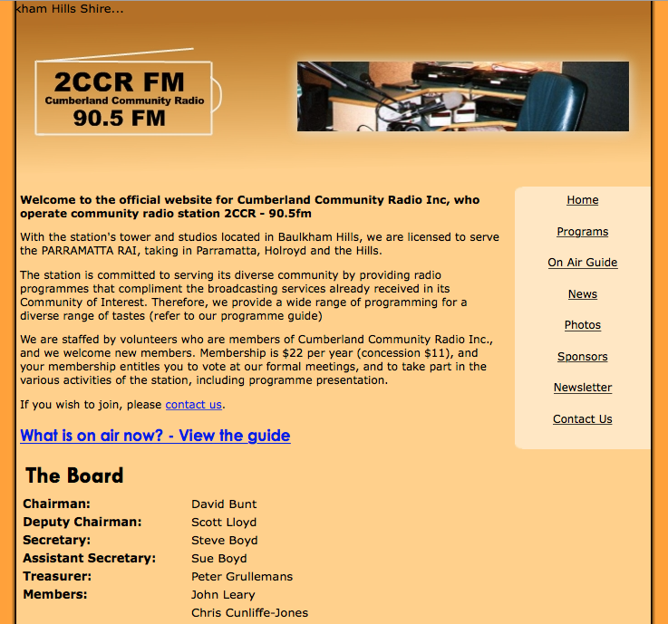 2CCR Website - Mid 2007 (the one I built)