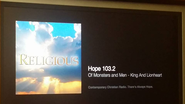 iTunes Internet Radio: Hope 103.2 on Apple TV