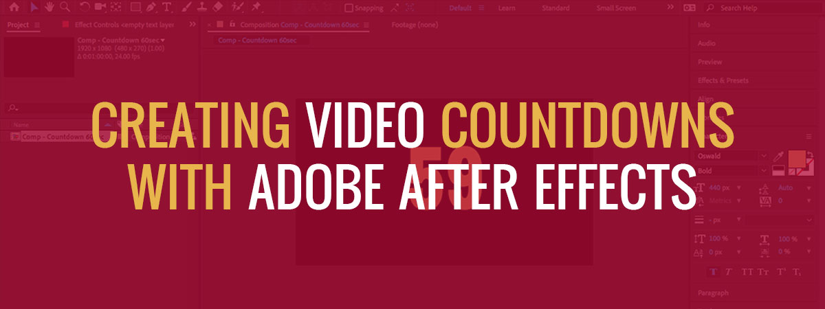 After Effects How To Create A Countdown Timer Ae Expression